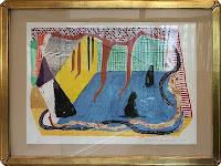 Ritz Carlton, David Hockney 'untitled lithograph'