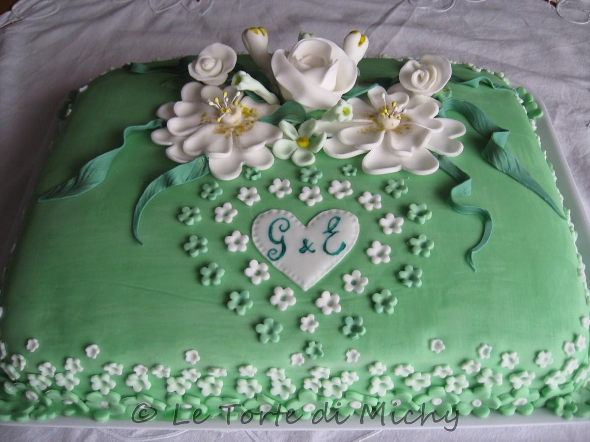 abbastanza Torta floreale Promessa di Matrimonio – Le Torte di Michy WK28