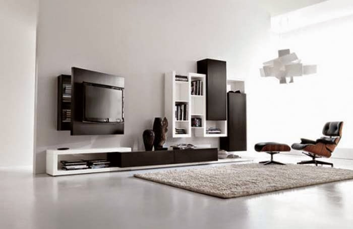 Black And White Living Room Designs And Ideas