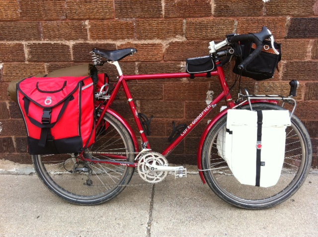 Hiawatha Cyclery Bike Touring With Grocery Panniers