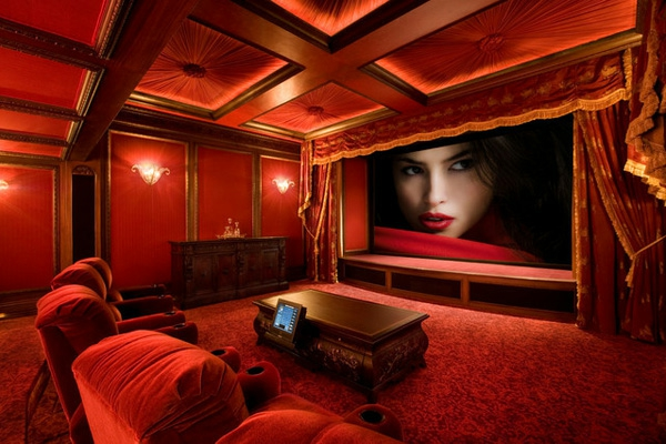 attic paint ideas - Top 25 home theater room decor ideas and designs