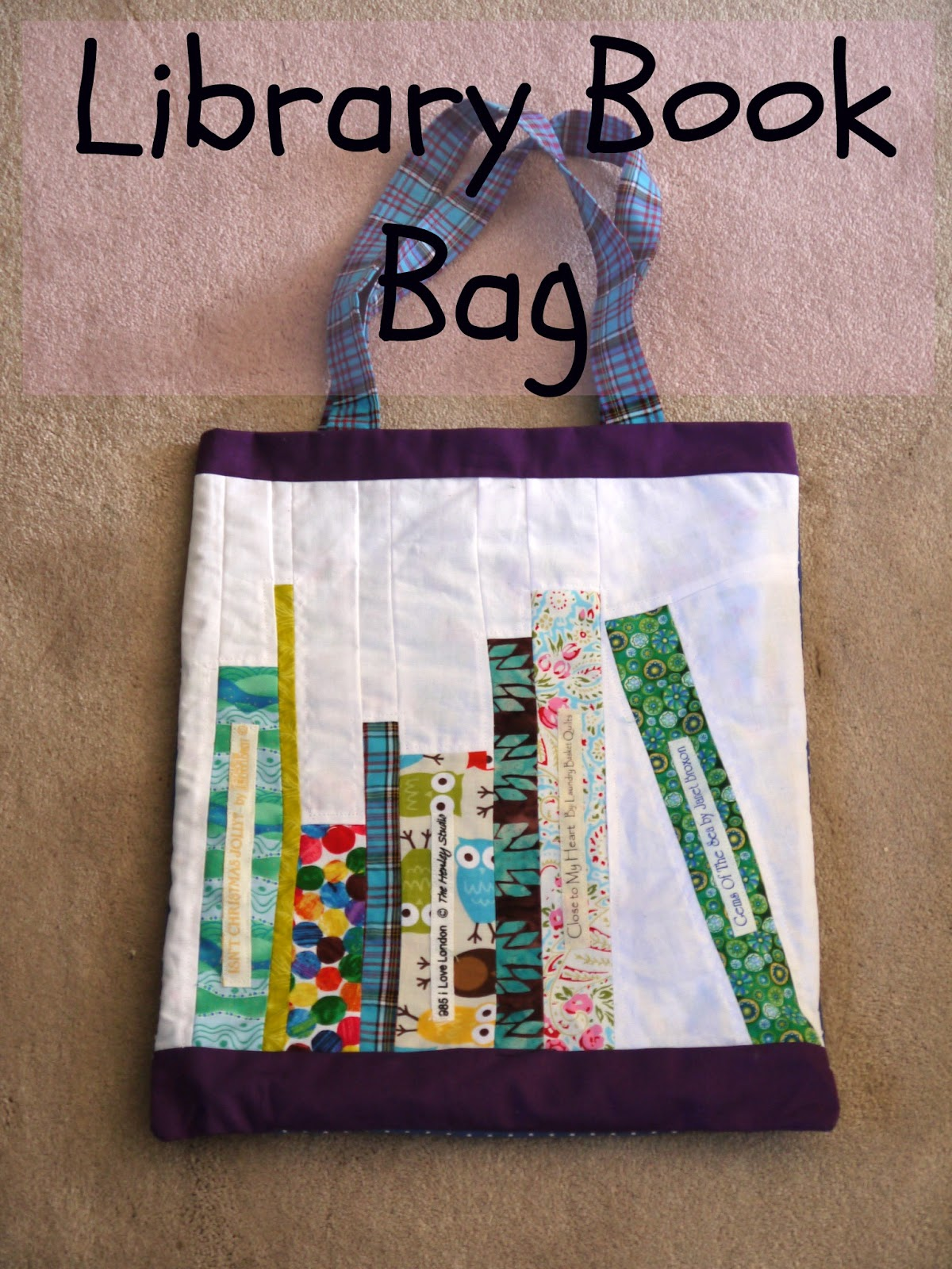 Heron's Crafts: Library Book Bag