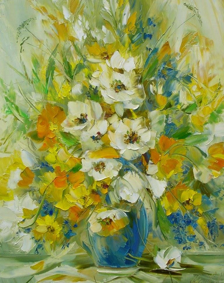 flores-comerciales-pintadas-con-oleo-y-espatula