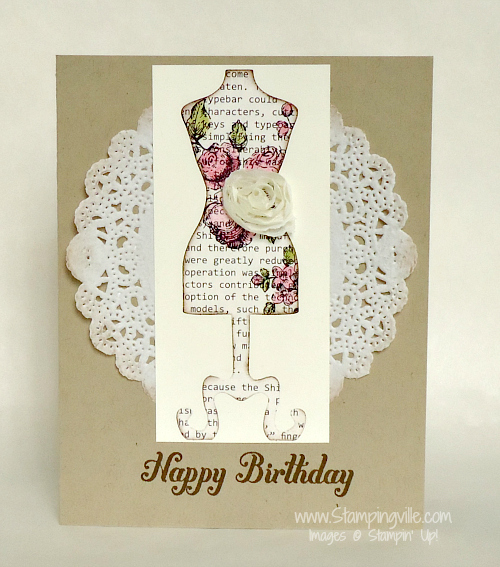 Dolled-Up Birthday Card Sample
