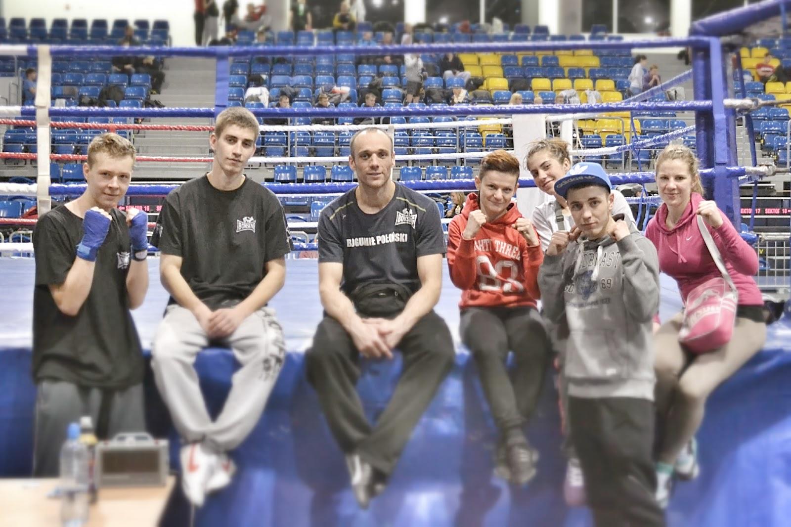 2014 r., Bełchatów, Boś, Gleisner, Groberski, Kacieja, kickboxing, Mistrzostwa Polski Low Kick, Rychlikowski, sport, treningi, wyjazdy, zawody sportowe