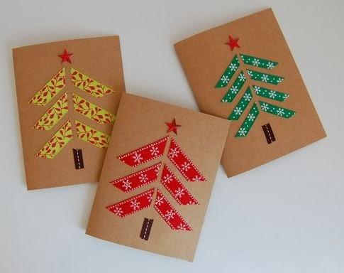 Ideas de tarjetas navide as caseras lodijoella - Como hacer tarjetas de navidad faciles ...