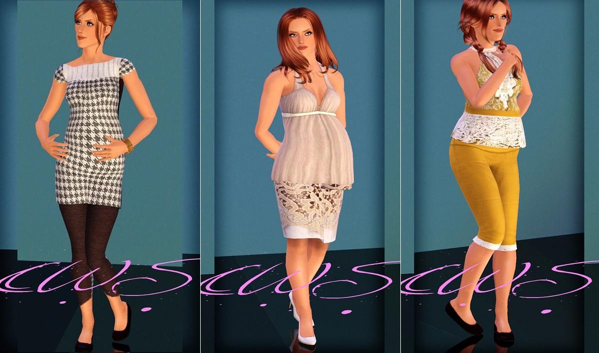 My Sims 3 Blog: Haute Momma Maternity Wear by Cloudwalker Sims
