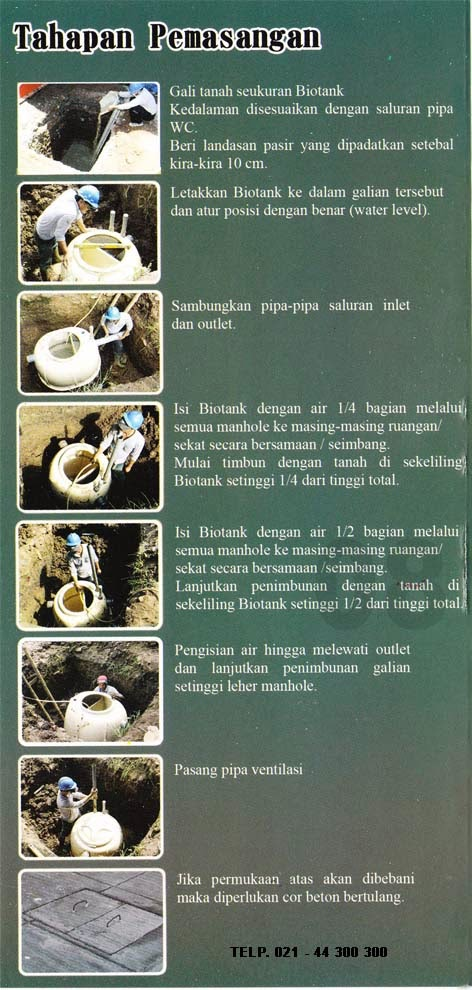 cara pasang septic tank biotank, induro, produk asli biofil, manual guide biotank