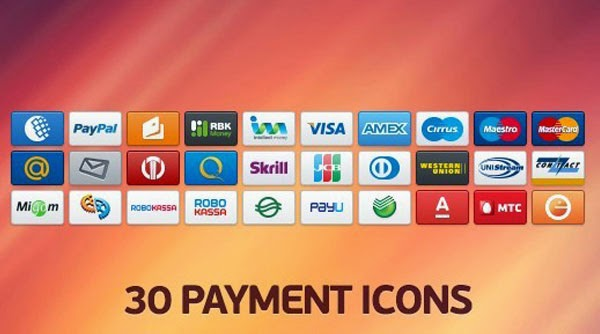 30 Clean Payment Icon Set