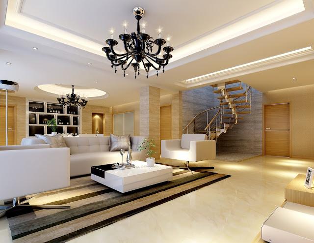 Mẫu trần thạch cao phòng khách nhà ở cao cấp