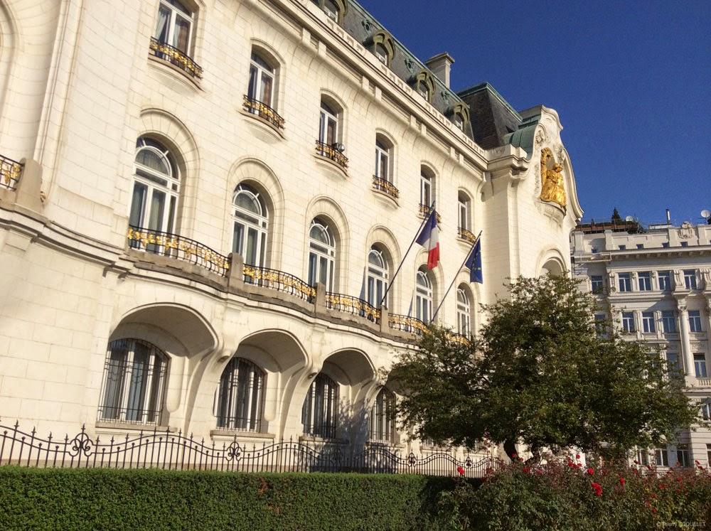 L'ambassade de France à Vienne.
