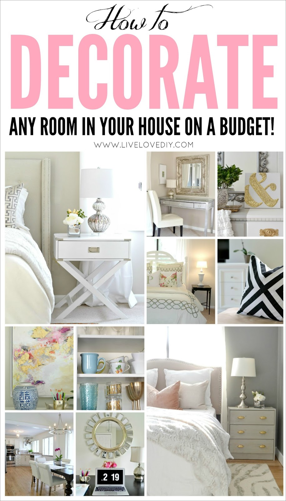 LiveLoveDIY: How To Decorate On A Budget: Our House Tour