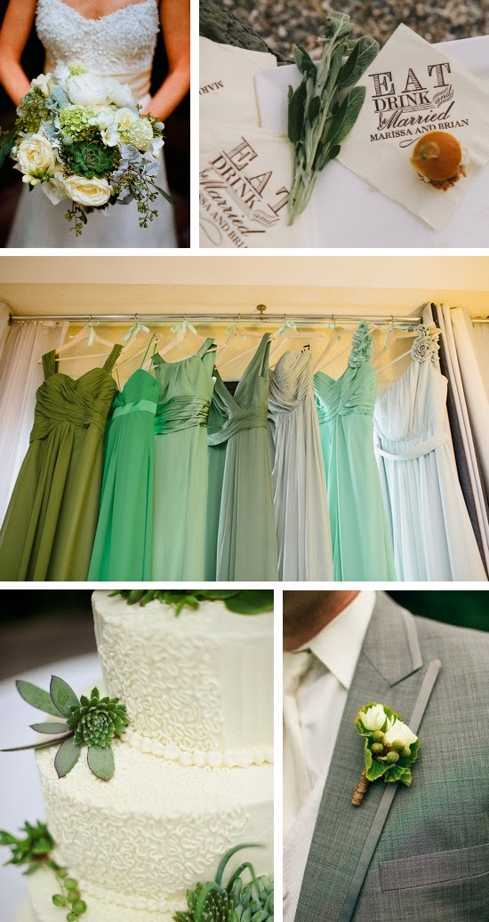 Green and Ivory Garden Wedding Inspiration Board