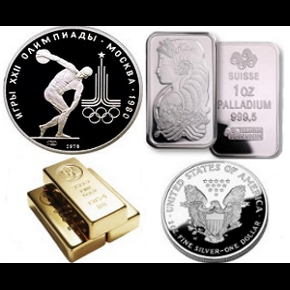 Precious Metals Gold, Silver, Platinum, and Palladium