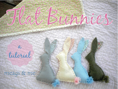 meags and me Flat Bunny Tutorial