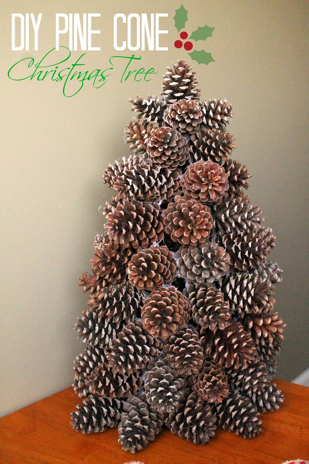 how to make a pine cone christmas tree louisiana bride