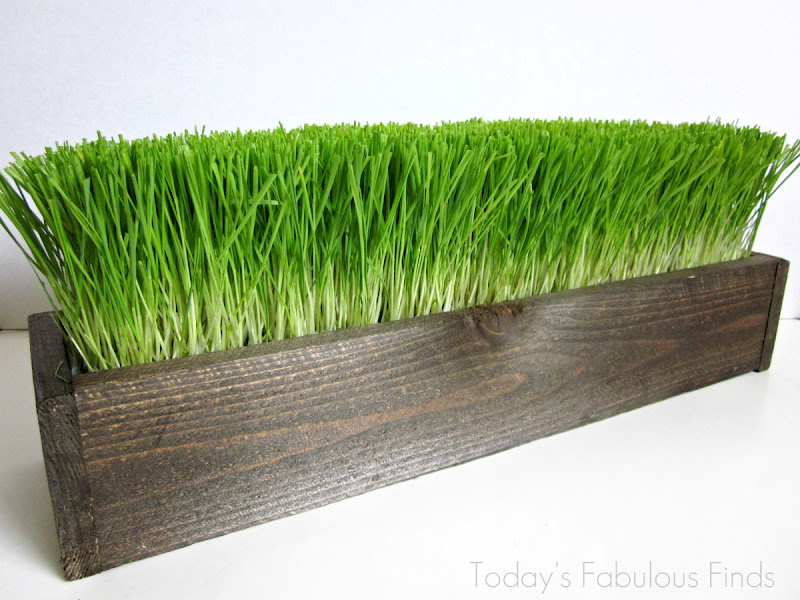 Today 39 s fabulous finds three easter wheat grass for Artificial grass decoration crafts