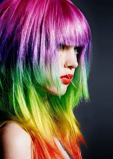 Colorful Pictures amazing rainbow Hair