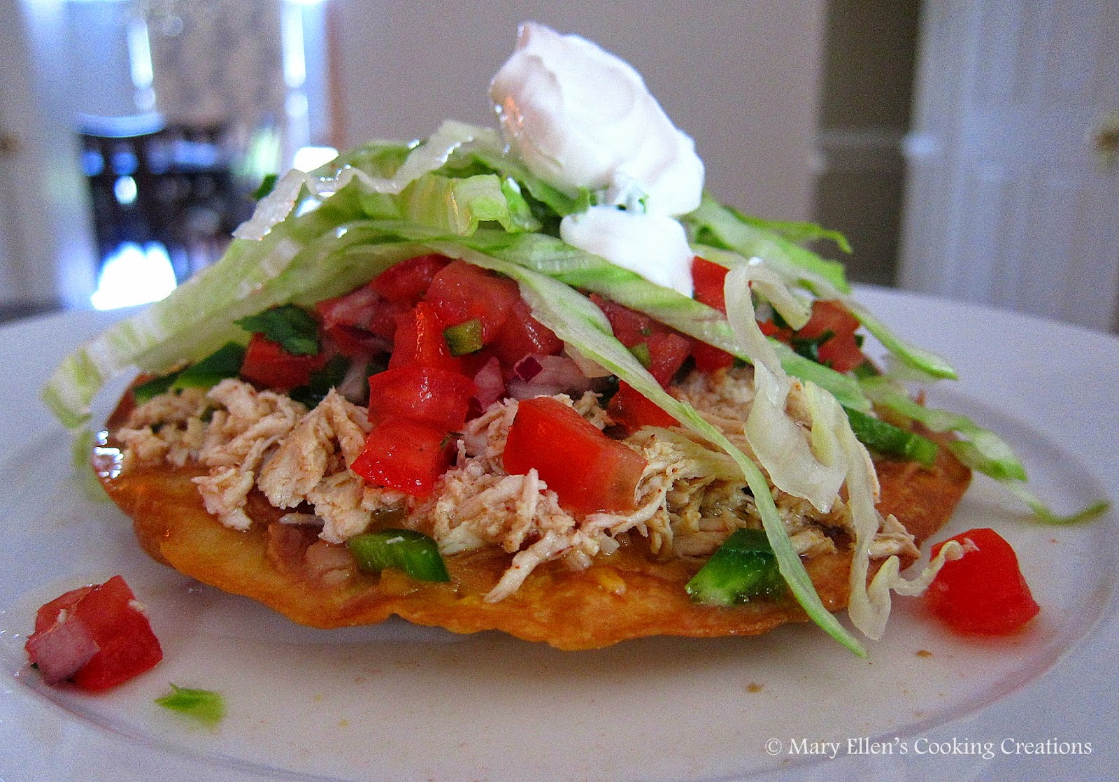 Chicken Tostadas Recipe — Dishmaps