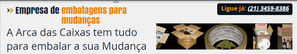 CAIXA DE PAPELÃO PARA MUDANÇA : Caixa Pronta