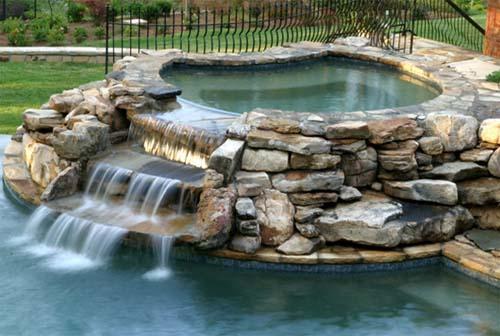 Casas fachadas alberca - Piedras para piscinas ...