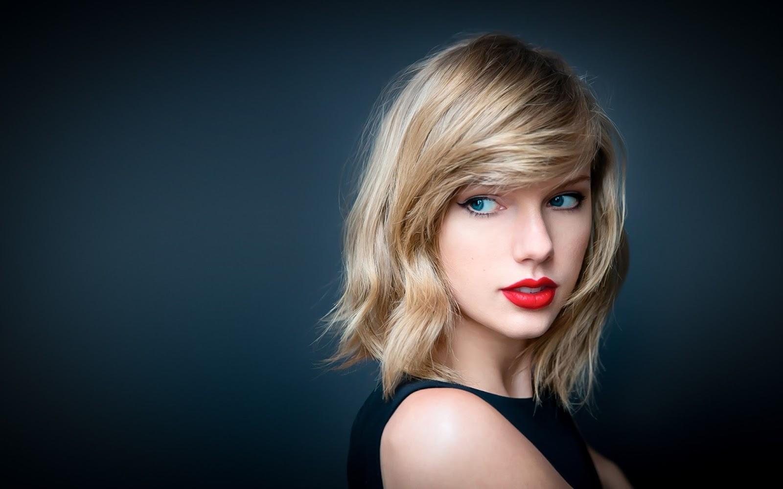 Taylor Swift Red Lips Wallpaper HD