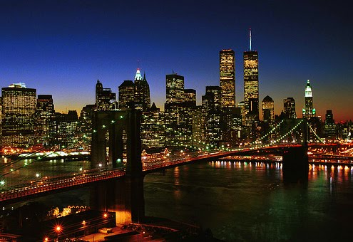 newyork at night. new york skyline night