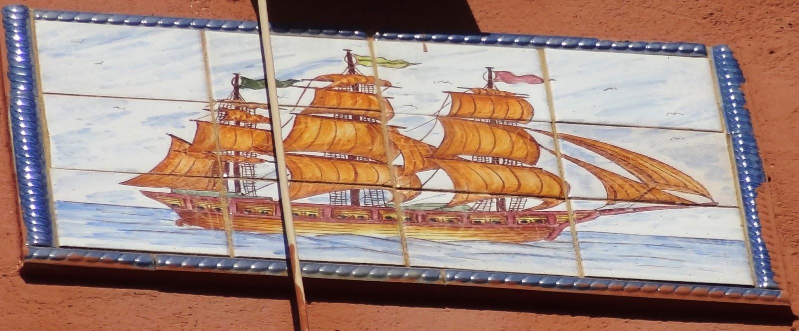 Mosaicos de m laga mosaico 844 velero y r tulo oficinas for Oficinas de correos en malaga