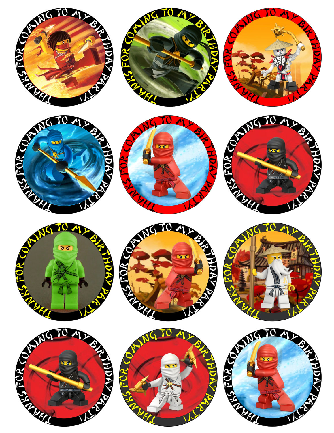 This is a picture of Clever Free Ninjago Printables
