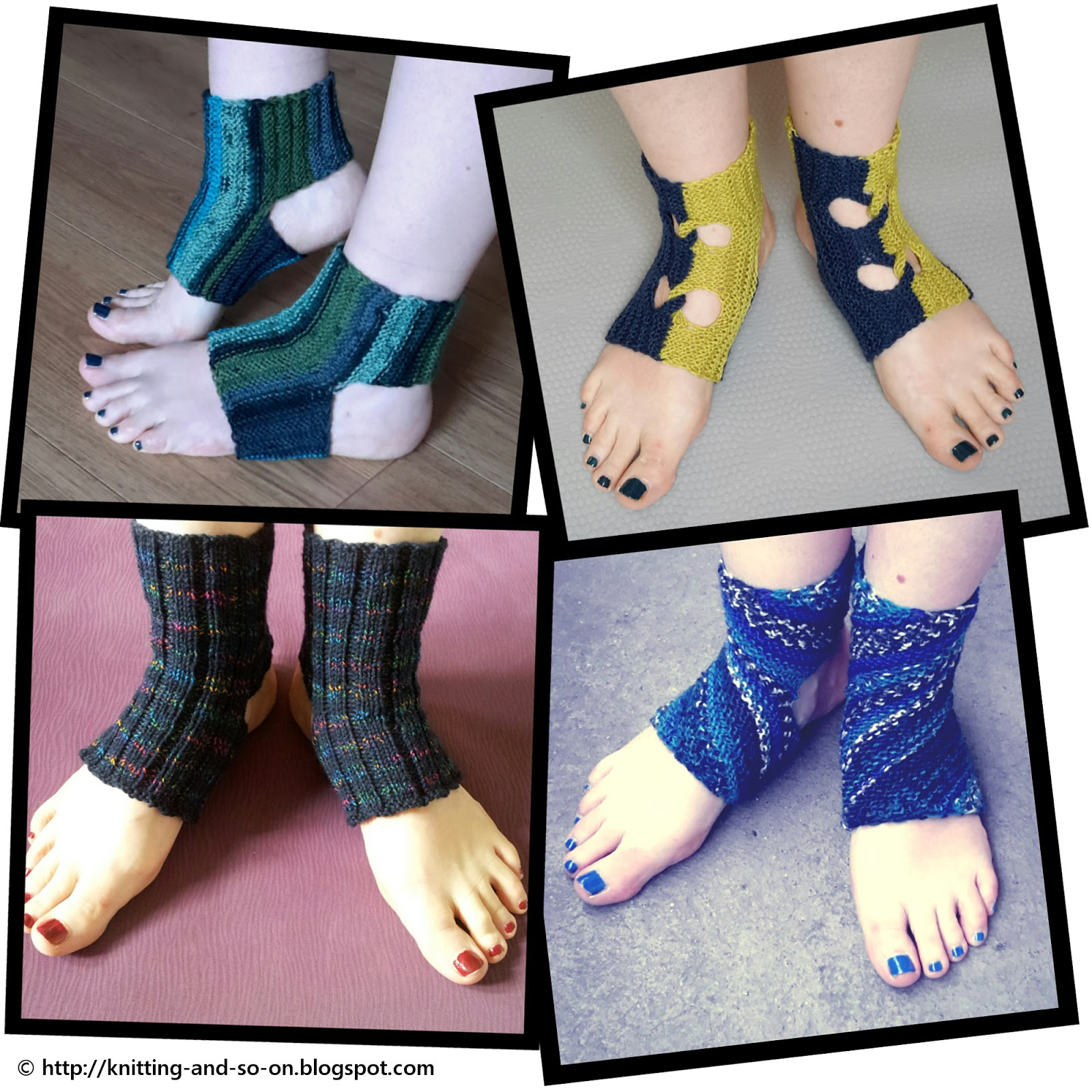 Knitting Patterns For Yoga Socks : Knitting and so on: Patterns