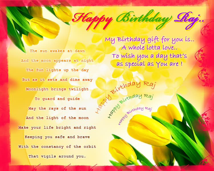 Happy Birthday Wishes Poem for Brother – Birthday Greeting Poems