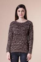 Pulover maro din bumbac 4556 (Ama Fashion)
