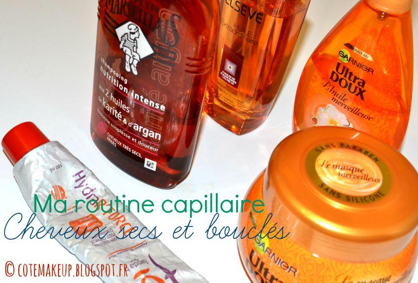 routine capillaire cheveux secs et bouclés / frisés