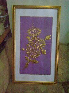 Lukisan Timbul Emas