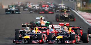 Primera curva del GP de Corea 2012
