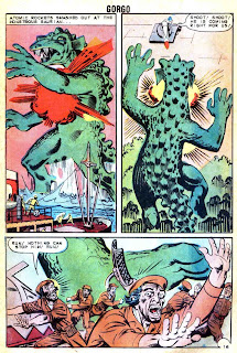 Gorgo v1 #14 charlton monster comic book page art by Steve Ditko