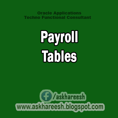 Payroll Tables,AskHareesh Blog for OracleApps
