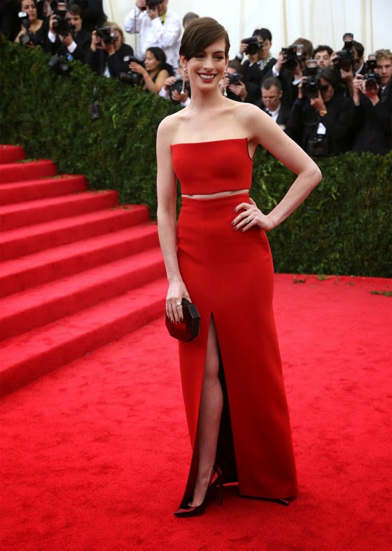 Anne Hathaway Clavin Klein Collection Met Gala 2014