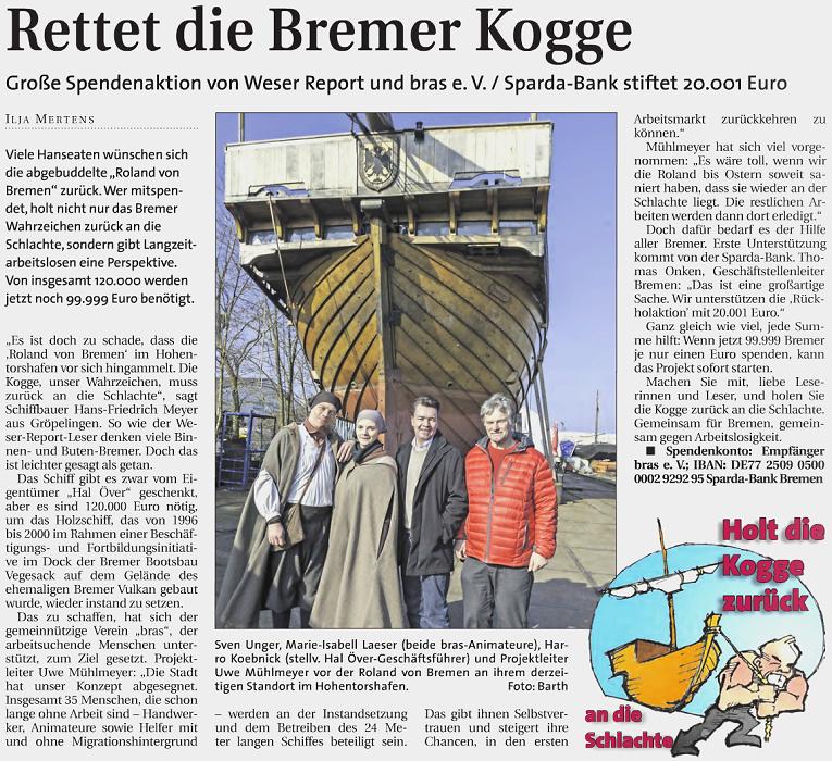 Weser Report vom 08.03.2015