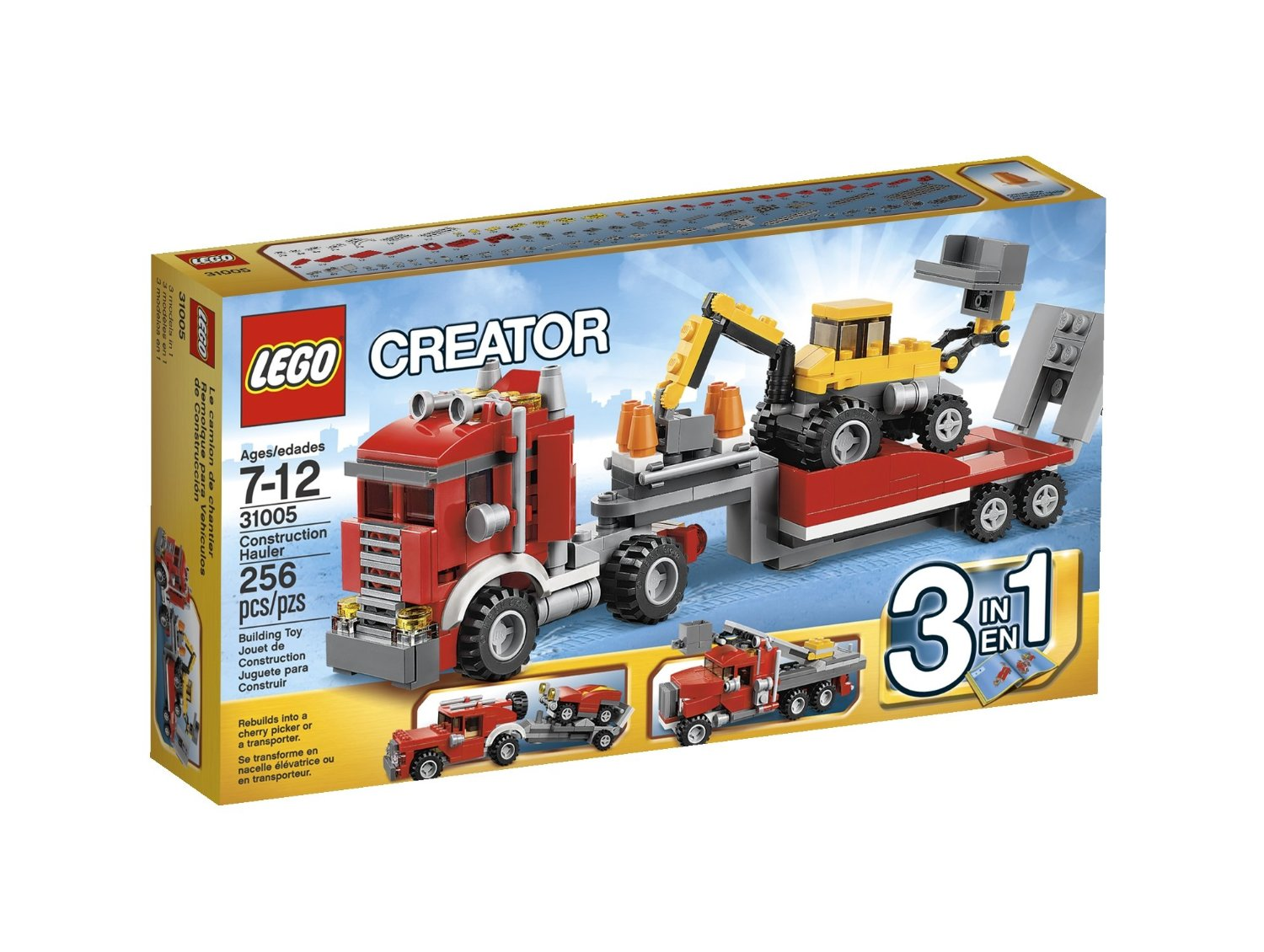 my lego style lego creator construction hauler 31005. Black Bedroom Furniture Sets. Home Design Ideas