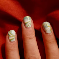nails, nail polish ideas, water marbling