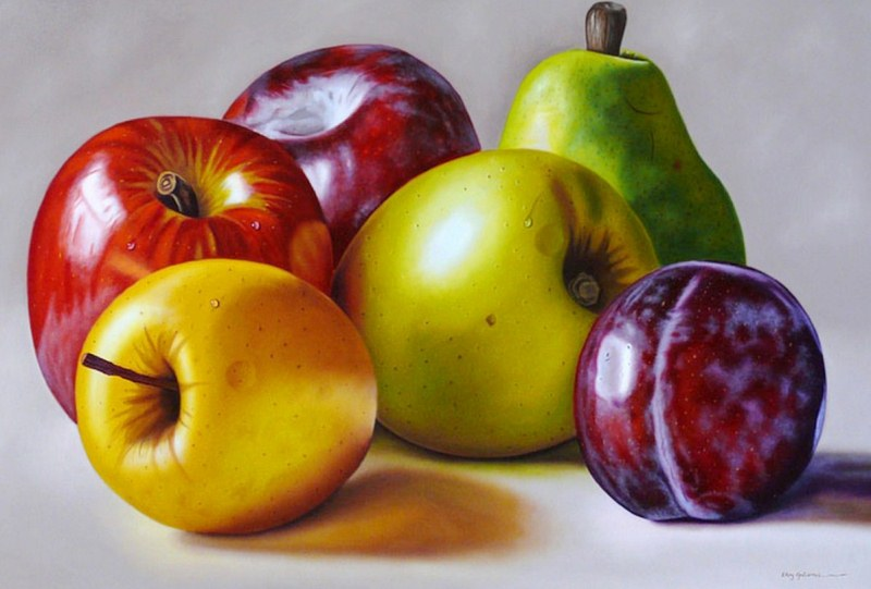 Pintura moderna y fotograf a art stica hiperealismo al - Fotos de bodegones de frutas ...