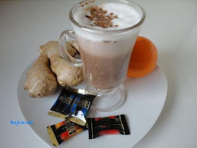 Kawa z czekoladą, imbirem i pomarańczą