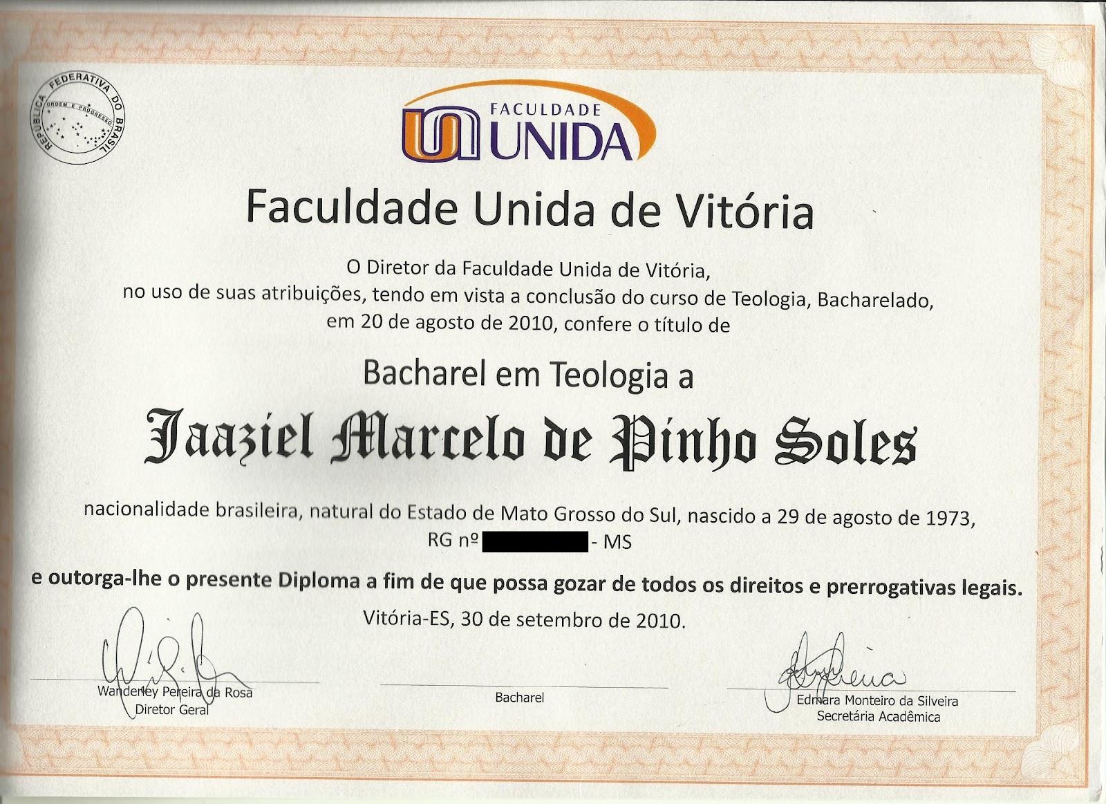 Diploma universidade sao marcos