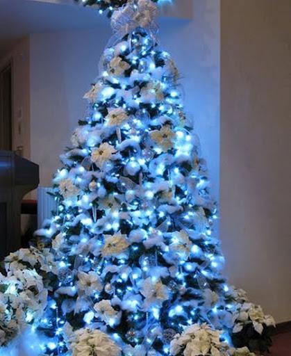 Украса на елха с лампички