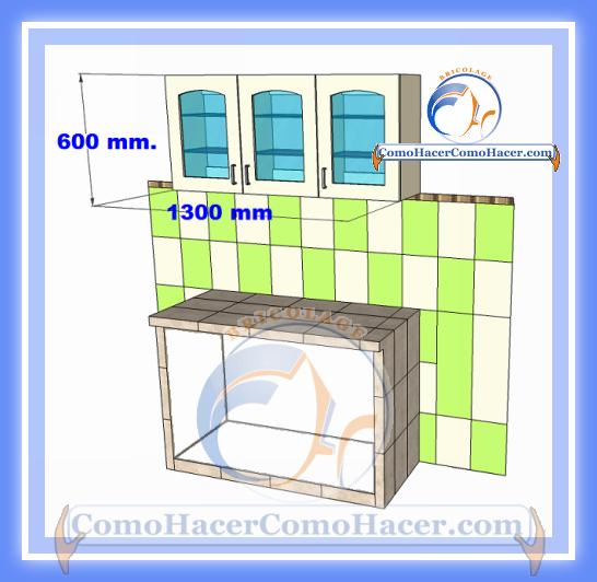 Como hacer gabinetes de cocina for Gabinetes en cemento
