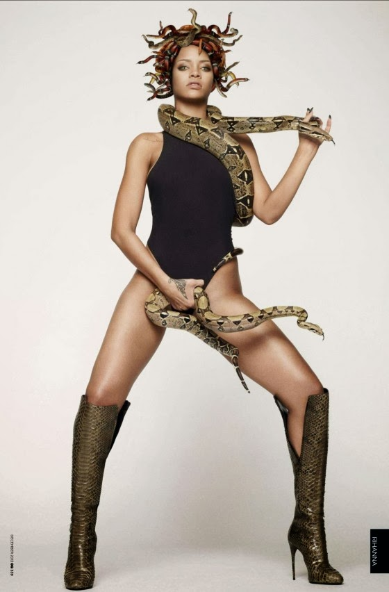 Rihanna Admits Being Scared Of Snakes Despite Posing For