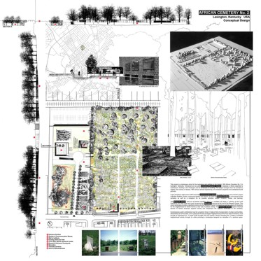 Louise Burns Architectural Presentation Board Examples
