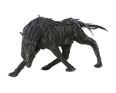 Stunning Animal Sculptures Made of Car Tires Seen On www.coolpicturegallery.us