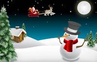 Cartão de Natal 2013: Modelos Grátis para imprimir - Boneco de neve - Papai noel